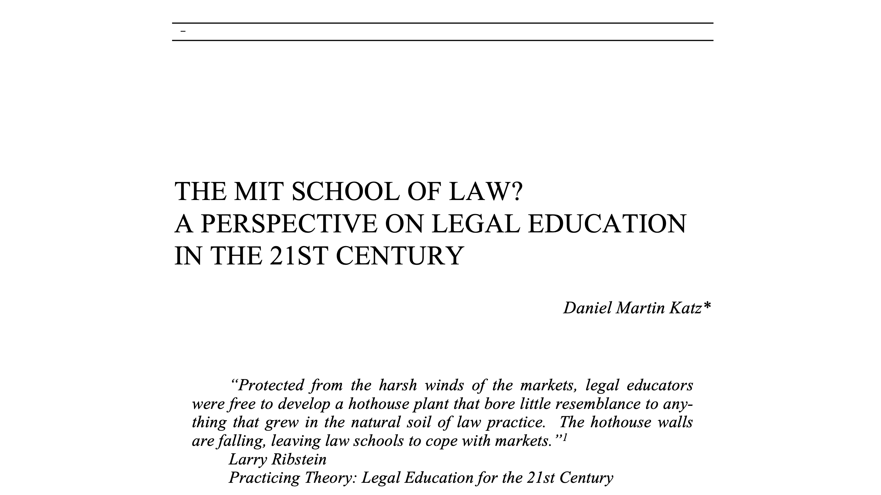 MIT School of Law paper